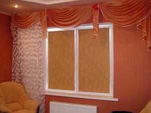 Рулонные шторы в гостевой комнате