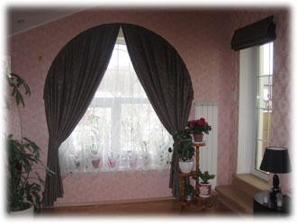 шторы в австийском стиле